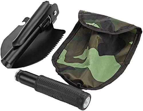 AJH Paleta de Emergencia Plegable portátil Mini-Militar Plegable de Supervivencia para Herramientas de Acampada al Aire Libre