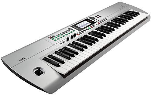 KORG i3 Music Workstation Synthesizer, silber, inkl. Software Paket, zum Erstellen von Musikproduktionen