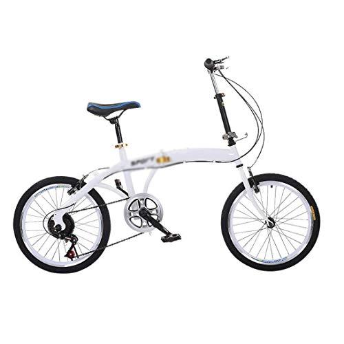 YCXTY Bicicleta Plegable 20 Pulgadas Amortiguador Coche Niño Niña Adulto Princesa Coche Juvenil,Mini Bicicleta Plegable Ligera