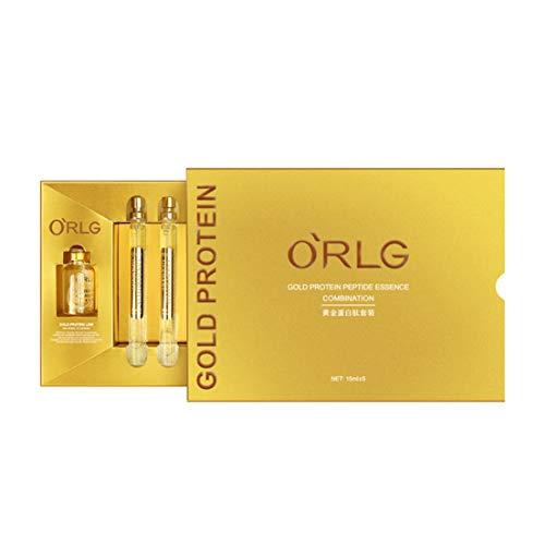DF-ES Gold Line Graving and Fine Grain Protein Peptide Gold Essence Crema hidratante Belleza Productos para el cuidado de la piel (color: dorado)