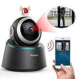 Caméra Sécurité WiFi 1080P FREDI IP Caméra de Surveillance sans Fil Détecteur de Mouvement Infrarouge à Vision Nocturne Pan Tilt P2P WPS IR-Cut Audio Bidirectionnel pour Domestique Bureru