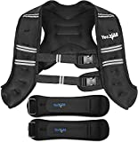 Yes4All 12lb Workout Weighted Vest & 2lb Ankle Weights Pair – Exercise Weighted Vest for Strength Training, Running, Weight Loss & Weightlifting