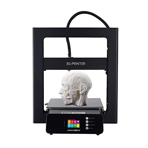 Ajcoflt Impresora 3D JGAURORA A5S DIY Tamaño de impresión de 305*305 *320 mm con marco de metal Pantalla táctil a color de 2.8\'\' Detección de filamento Extrema Alta precisión Soporta PLA/ABS/MADERA