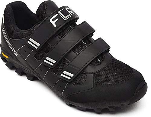 FLR Shoes FLR Bushmaster MTB/Trail Schuh schwarz/Silber - Klettverschluss, 46