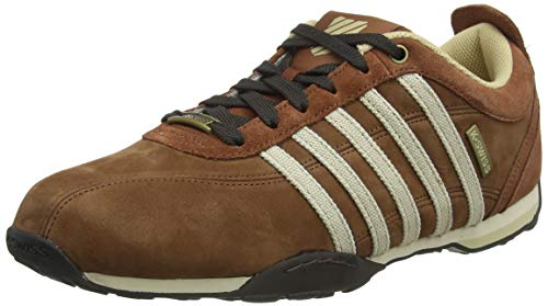 K-Swiss Men's Low-Top Sneakers, Brown Tortoise Shell Khaki Bell 294, 10.5 UK