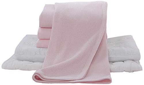 American Baby Company Portable/Mini-Crib Starter Set, Pink, for Girls
