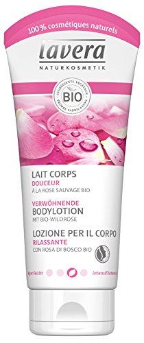 Lavera Loción Corporal Suavizante Rosa Mosqueta bio - vegano - cosméticos naturales 100% certificados - cuidado de la piel