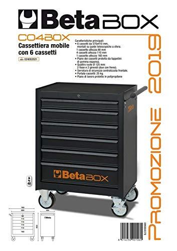 HIMAG - Carro de herramientas Beta CO4BOX con 6 cajones