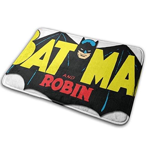 ETGBFHRDH Fußmatte Batman-Man Anti-Rutsch-Badematte, dekorative Fußmatte, für Badezimmer, Küche, Fußmatte, 23,6 x 15,8 cm