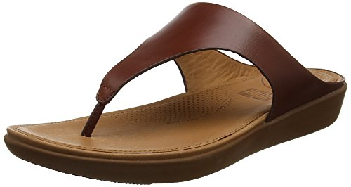 Fitflop Banda II Teen-Thong Leather Peeptoe sandalen voor dames