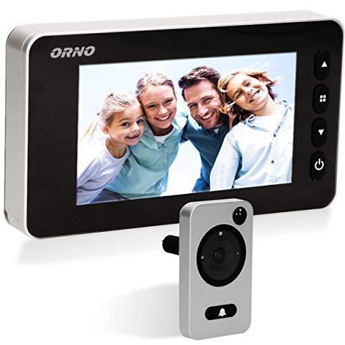 ORNO WIZ-1106 Digitaler Türspion Mit Bewegungsmelder und Infrarot Nachtsicht/Video Türklingel 4,3