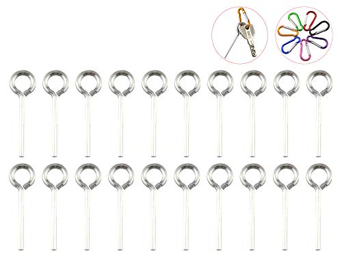 5/32 Hex Dogging Key with Full Loop, Allen Wrench Door Key for Push Bar Panic Exit Devices, Panic Bar, Crash Bar(20 Packs with 7 Carabiners)