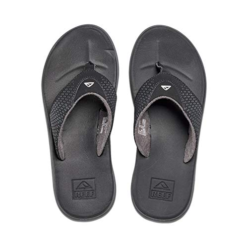 Reef Men's Sandals Rover   Water-Friendly Men's Sandal with Maximum Durability and Comfort   Waterproof   Black   Size 15