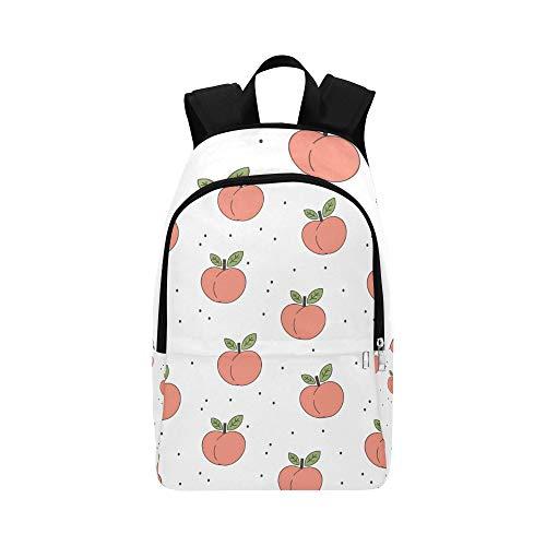 WJJSXKA Slim Backpack for Men Sweet Peach Small Lovely Durable Water Resistant Classic Sport Bag Kids Messenger Bookbag Nylon Backpack Men Travel Bag