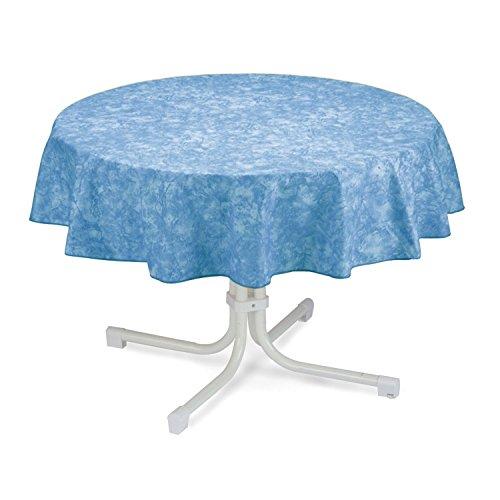 BEST 09810692 Tischdecke rund 130 cm, blau