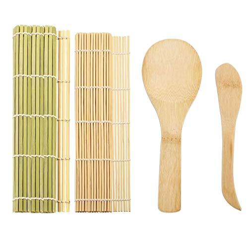 Set di Strumenti per la Preparazione del Sushi, 4 pezzi/set Kit per Preparare Sushi Completo Tappetino Preparazione Sushi di Bambù
