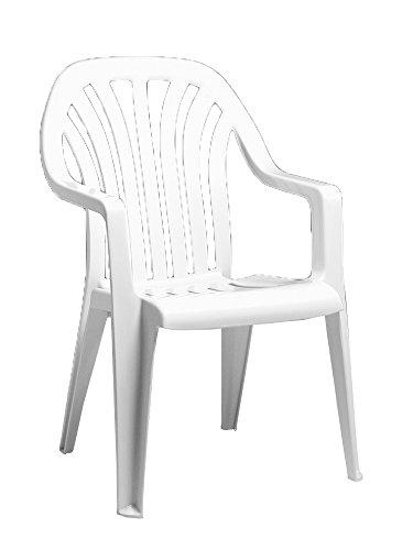 Vela Chaise en résine Dossier haut Blanc