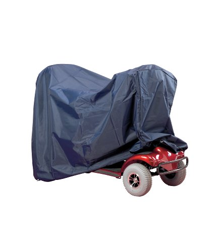 Homecraft Deluxe Scooter Cover, 68 x 145 x 140 cm, Blue Heavy-Duty PVC, Elasticated Base, Scooter Storage Cover, Protects Against Weather and Dust, Waterproof (Eligible for VAT Relief in the UK)
