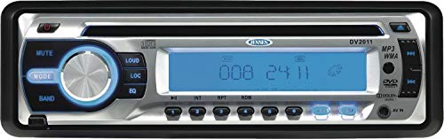 Jensen DV2011 CD/MP3/WMA/DVD Player/Receiver, 4x40W Max Audio Power Output, Detachable Faceplate, 3-Wire Power (ACC, Batt, Gnd), 1-DIN (Sleeve-Mount) Chassis Design, Segmented LCD Display (Renewed)