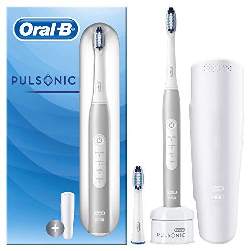 Oral-B Pulsonic Slim Luxe 4200 Brosse à Dents Électrique Sonique Platinum, Édition Voyage