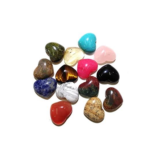 YSJJSQZ cabujón 10 Piezas Rose Rose Stones Natural Cabochon 10x10mm 15x18mm 25x25mm Forma de corazón Sin Agujero para Hacer joyería Bricolaje (Size : 25x25mm)