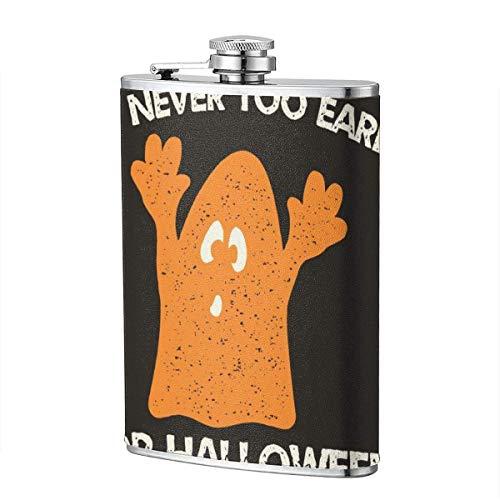 XBYC Trinkflaschen für Alkohol, Halloween-Grafikdruck für T-Shirt, Kostüme und Dekorationen 8 Unzen Edelstahl-Flachmann für Alkohol für Männer