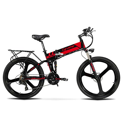 Save %64 Now! Cyrusher XF700 Electric Bike 400 Watt 21 Speeds Mountain Electric Bike with 36V 10.4ah...