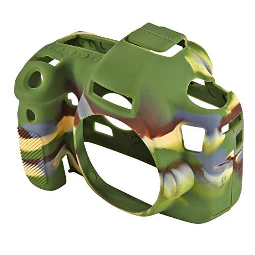 G-rf Weiche Silikon-Schutz Kamera-Kasten-Abdeckung Tasche Kompatibel for Canon EOS 6D (Camouflage) (Color : Black)