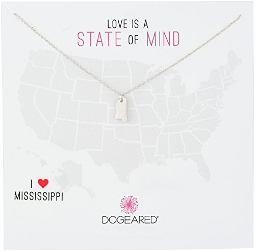 Dogeared State of Mind Mississippi Silver Sterling Silver Chain Necklace