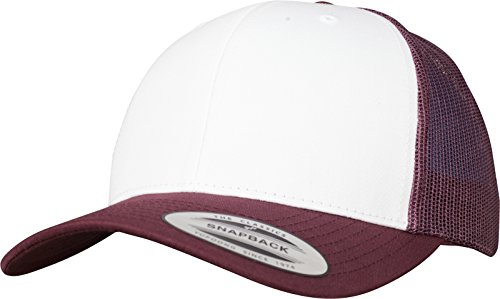 Flexfit Retro Trucker Colored Front Kappe Maroon/White One Size