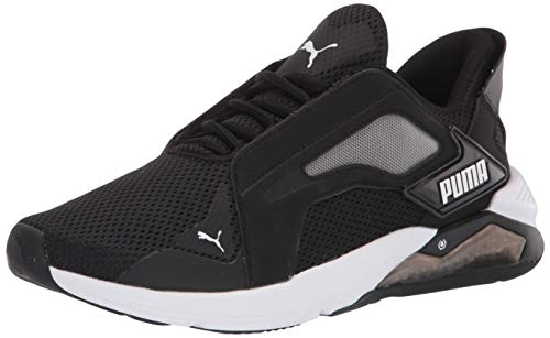 PUMA womens Lqdcell Method Cross Trainer, Black/White, 5.5 US
