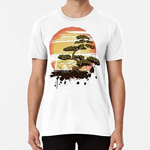 Ferry Bonsai-Baum-Karate Dojo-T-Shirt Bonsai Karate-Kampfkunst kühles Design Karate Dojo Karate Kid asiatin T-Shirt: Weiß, XL
