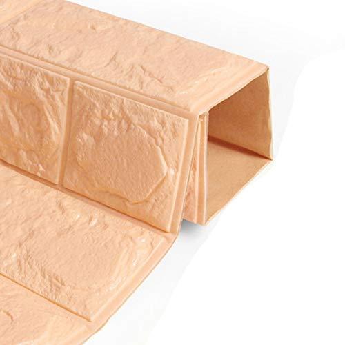 Lianlili Etiquetas engomadas de la Pared para el Dormitorio PE Espuma 3D DIY Auto Adhesivo Paneles de ladrillo Pegatinas de Pared Decoración del hogar Decoraciones de la Escuela de viveros