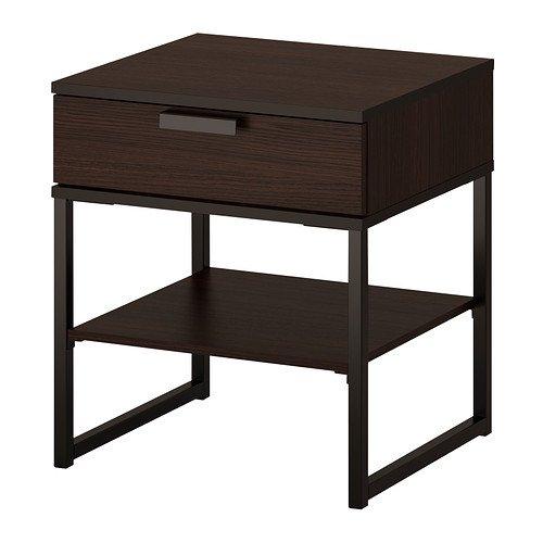 IKEA Nachttisch dunkelbraun schwarz 1424.11202.1018