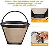 2 PCS Coffee Filters, Reusable No.4 Cone Coffee Maker Filters for Ninja Coffee Bar Brewer...