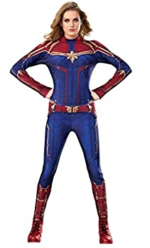 Rubie s Women s Captain Marvel Hero Suit Adult Sized Costumes As Shown X-Small US