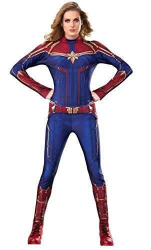 Rubie´s Déguisement Adulte Officiel Captain Marvel Movie, Multicolore, M Femme
