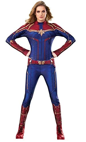 Rubie's Women's Captain Marvel Hero Suit Adult Sized Costumes, As Shown, Small US