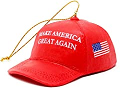 """Make America Great Again"" Red Cap Ornament Red Make America Great Again Hat Cap Christmas Ornament Donald Trump MAGA C7571 By Kurt Adler"
