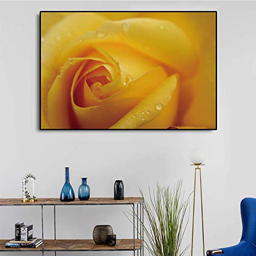 zgldx73 Blume Leinwand Poster Farbe Blume Pflanze Druck Wanddekoration Malerei Raumdekoration Malerei45x30cm ohne gerahmt