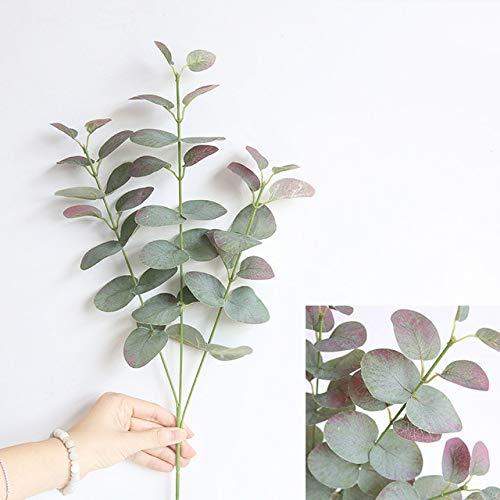 ZCLS Leaves Branch Retro Green Silk Eucalyptus Leaf for Home Decor Wedding Plants Faux Fabric Foliage Room Decoration