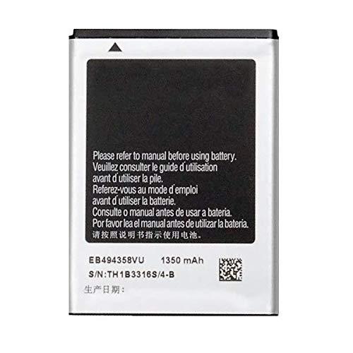 Bateria Compatible con Samsung Galaxy Ace GT-S5830i/s5839/s5839i/S5660 Gio/S5670 Fit/S6010 Music/S6310N Young/S6312 Duos/Ace Duos S6802/Galaxy Pro B7510/S7250 Wave M/EB494358VU