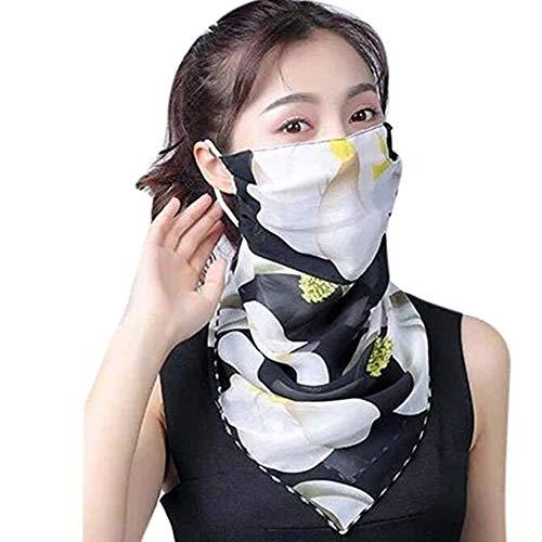 CRYX Dames sjaal mondbescherming multifunctionele bandana zomer UV bescherming ademende gezichtsmasker chiffon doek