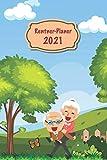 Rentner Planer 2021: mit 2 Seiten pro Woche, Ferienkalender, Kalendarium für 2021/22, Platz für Kontaktdaten, 121 Seiten, glänzendes Cover