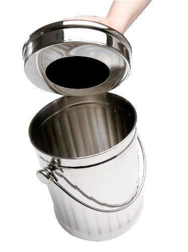 Eddingtons-Barattolo in acciaio inox cucina secchio Compost Bin Deluxe con filtro