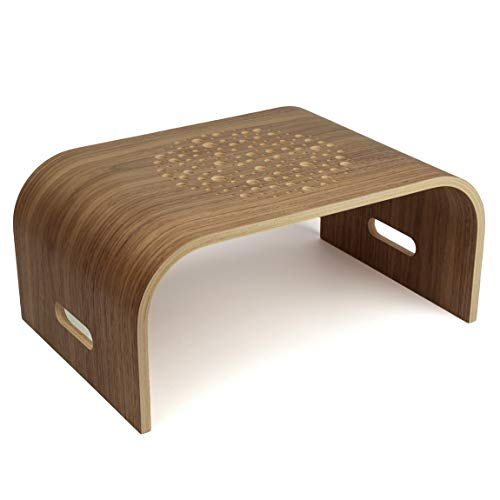 Walnute - Tavolino portatile per computer portatile, in legno, con supporto sostenibile, supporto per tablet portatile, supporto per computer portatile, per lavorare a casa