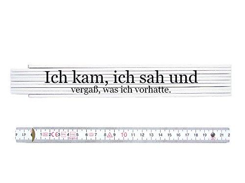 ZOLLSTOCK Metermaß Spruch ICH KAM SAH UND VERGASS WAS ICH VORHATTE Geschenk Chef