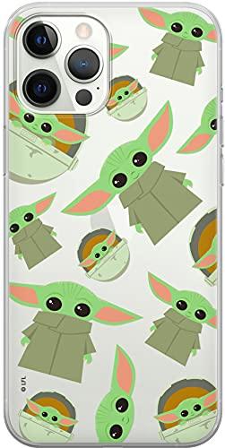 ERT GROUP Original & Offiziell Lizenziertes Star Wars Smartphone-Hülle für iPhone 12/12 PRO, optimale Smartphono-Form, stoßfest, Baby Yoda Transparent Print
