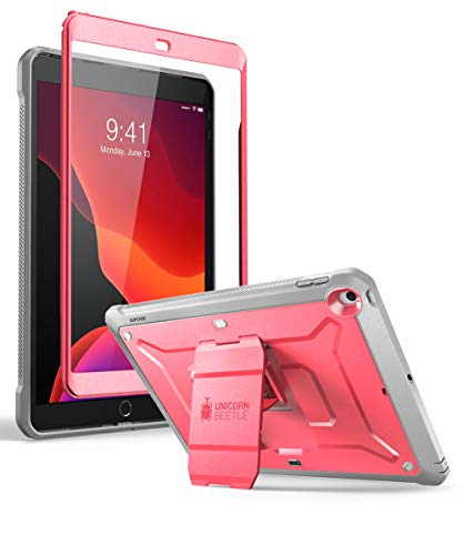 SUPCASE Unicorn Beetle Pro Series Case for iPad 10.2 (2020/2019), with Built-in Screen Protector Protective Case for iPad 8th Generation 2020/iPad 7th Generation 2019(Pink)
