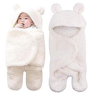 Lawei Mantas ajustables de felpa para bebé, para recién nacidos, niños y niñas, manta de recepción cálida, saco de…